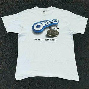 Vintage 1996 Oreo Is Life T-Shirt - Size: XL